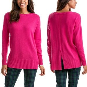 NEW Vineyard Vines Wool-Cashmere Pink Sweater
